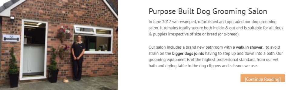 Purpose Built Dog Grooming Salon