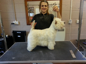 Lois with West Highland Terrier